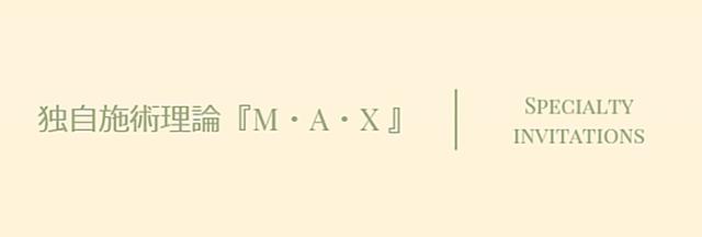 独自施術理論 『M・A・X』
